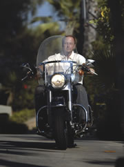 Heiting's Harley-riding days are over, but he occasionally takes the