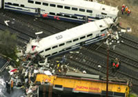 Metrolink Train Wreck in Los Angeles