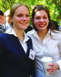 Mock trial teammates, Sandra Allen (left) and Natalie Robinson